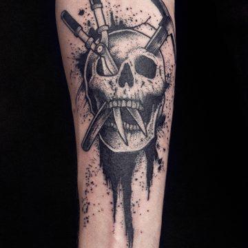 skull-pioche